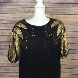 Dresses & Skirts - Vintage great gatsby style sequin bead dress