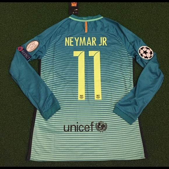 c13eace18 Neymar Jr Barcelona Soccer Jersey Champions League