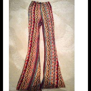 Snap Pants - Tribal Print Hippie Pants