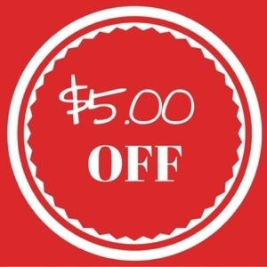 Other - $5.00 off $50 or more.