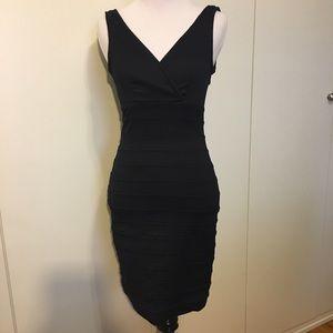 Dark indigo denim stretchy sleeveless dress XS