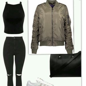 Madden Girl Jackets & Blazers - Madden Girl Bomber Jacket