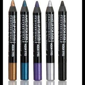 Makeup Forever Other - Make Up Forever Aqua Eyes Liner Bundle