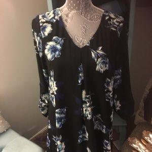 Lush Dresses & Skirts - Blue floral dress