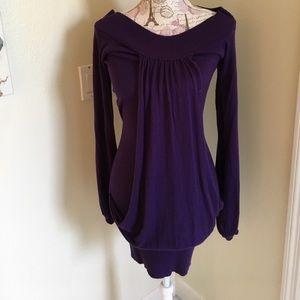 Arden B purple tunic sweater - mini dress