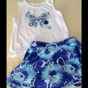 Children's Place Other - Butterfly tank and skort