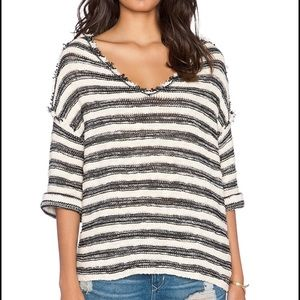 Free People Spells Trouble Stripe Pullover Sweater