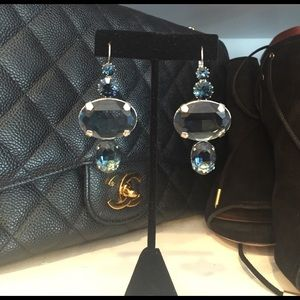 Jewelry - Gorgeous clear blue stone earrings. Brand new