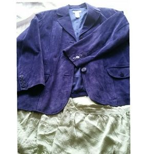 "Elisabeth Petites Jackets & Blazers - ""Purple Rain"" Suede Blazer"