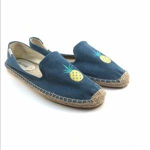 Soludos Shoes - Soludos denim pineapple slip-on