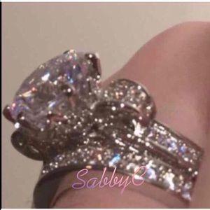 Swarovski Jewelry - New 18 k white gold wedding ring set