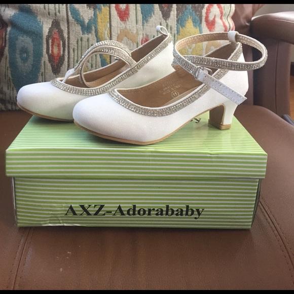 White Sparkle Kids Dress Shoes | Poshmark