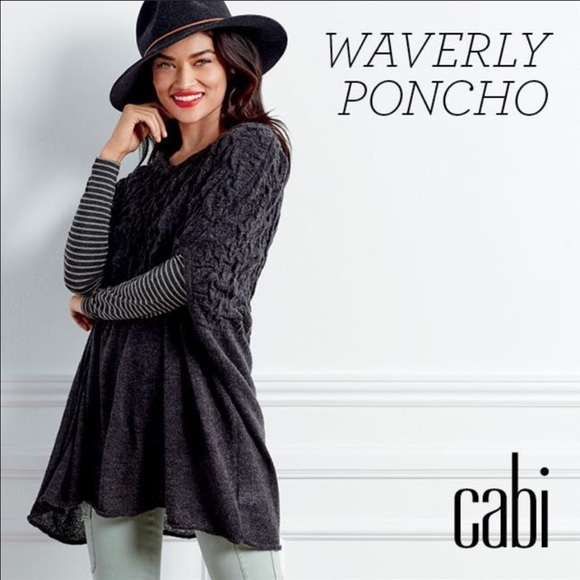 46% off CAbi Sweaters - CAbi Waverly Poncho NWOT from Kristen's ...