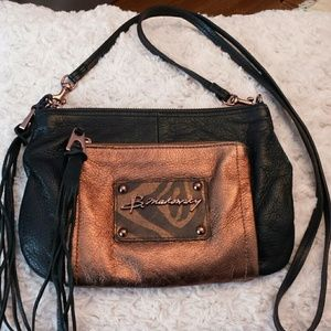 B Makowsky  Handbags - B Makowsky Metallic Crossbody Bag