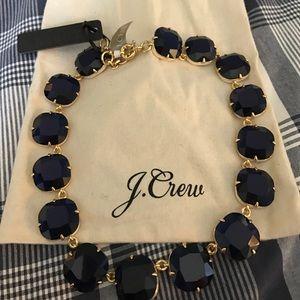 J. Crew Jewelry - J.Crew navy stone necklace