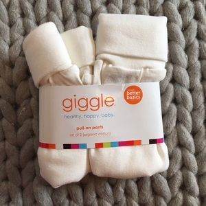 giggle Better Basics Other - GIGGLE Set of 2 Organic Cotton Pants NWT 3-6 month