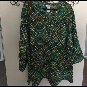 Catherines Tops - NWT Catherines beautiful green and brown work top