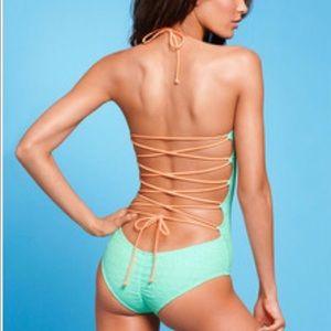 Victoria's Secret Other - Victoria Secret lace up one piece swimsuit