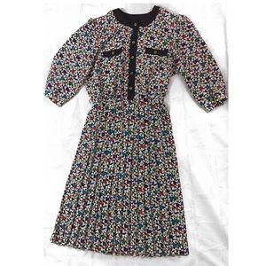 Vintage Midi Geometric Secretary Dress Size 16