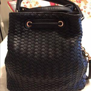 Deux Lux Handbags - Beautiful Black Leather Weave Pattern Bag💕