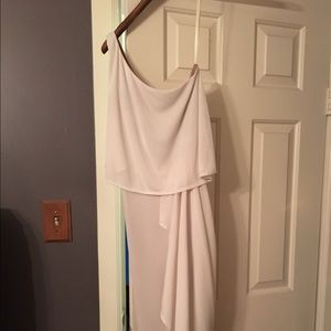 BCBG Dresses - BCBG white one shoulder dress