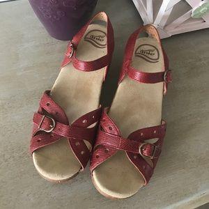Dansko Shoes - Dansko Red Mary Jane sandals