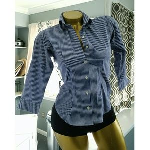 Thomas Pink Tops - Thomas Pink superfine two fold gingham button down