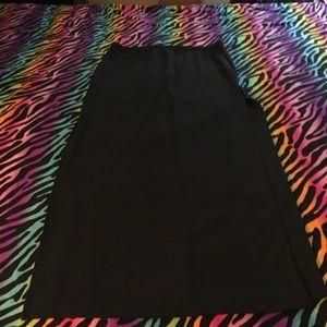 💥Long black skirt with side openings NWOT