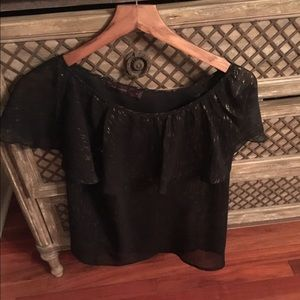 Black evening top