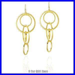 Kenneth Jay Lane Jewelry - Kenneth Jay Lane Circular Linked Drop Earrings