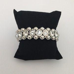 Jewelry - New Silver Crystal Stretch Bracelet