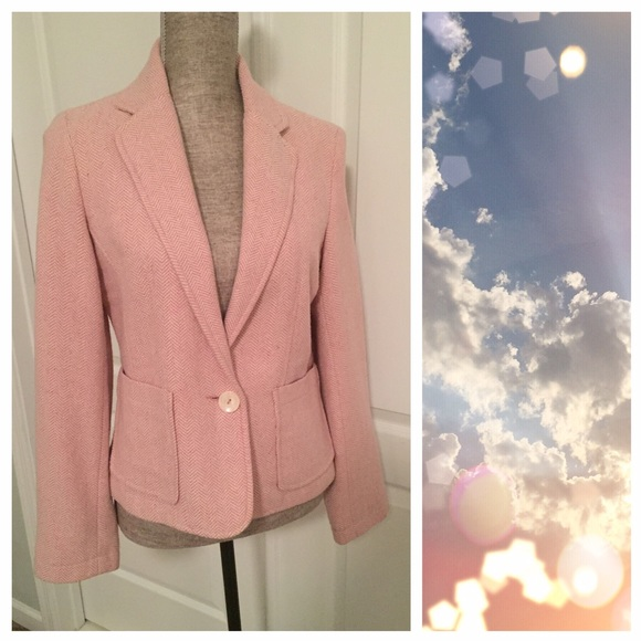 Old Navy Jackets & Blazers - Old Navy Pink Herringbone Blazer