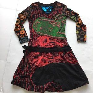 Desigual Dresses & Skirts - Desigual beautiful/fun dress sz L colorful unique