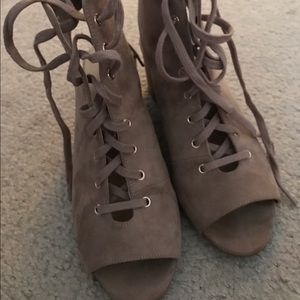Forever 21 Wedged lace up shoes