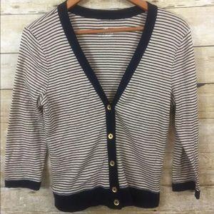J. Crew Sweaters - J.Crew Perfect Fit Stripe Cardigan
