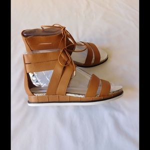 Calvin Klein Shoes - Leather! Chic Tan Gladiator Sandals W/Ties Detail