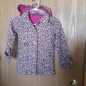 Pink Platinum Other - Pink Platinum leopard lightweight coat girls 6x