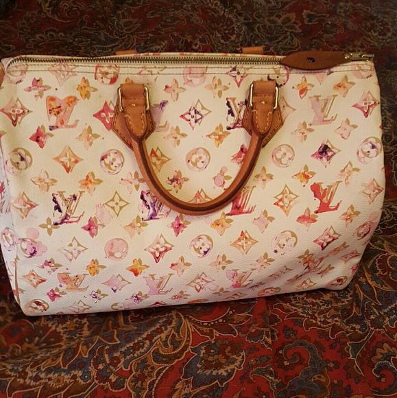 c64eb8666b88 Louis Vuitton Handbags - Louis Vuitton LE Richard Prince Watercolor Speedy