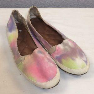 Reef Shoes - Reef watercolor canvas slip ons
