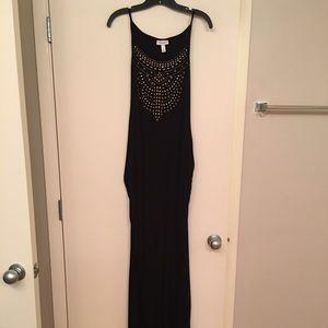 Liz Lange Black Maternity Maxi Dress