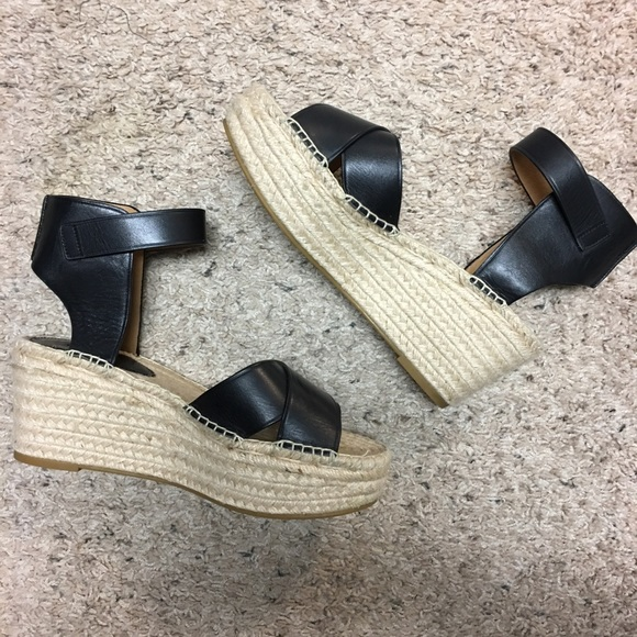 85f37c56a Coach Shoes | Black Primrose Espadrille Platform Sandal | Poshmark