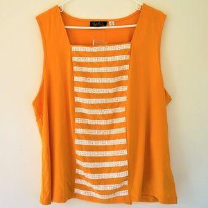 Bob Mackie Tops - NWT Bob Mackie Wearable Art Sequin Tank Top - 1X