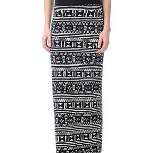 80s print maxi skirt