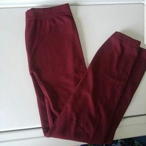 Riviera Pants - Burgundy leggings