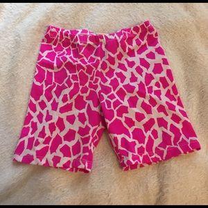 Pants - Pink Giraffe Print Spandex