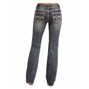 Rock & Roll Cowgirl Denim - Rock&Roll Cowgirl Mid Rise Bootcut Jeans
