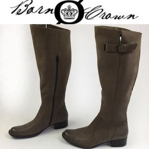 Born Shoes - BORN CROWN BROWN LEATHER HIGH BOOTS SZ12