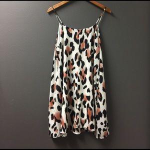 Peach Love California Dresses & Skirts - Peach Love white, coral & black Leopard Dress Sz:M