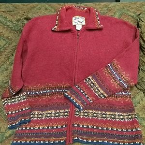 heirloom collectibles Sweaters - Burnt red zippered sweater xl