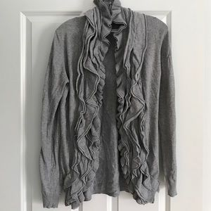 Romeo & Juliet Couture Sweaters - Gray Ruffle Sweater